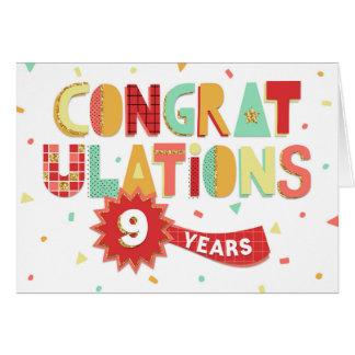 9 year anniversary greeting cards zazzle
