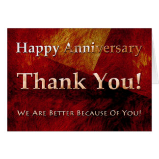 Employee Anniversary Card Classic