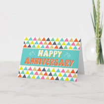 Employee Anniversary - Colorful Pattern Card