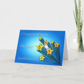 Employee Anniversary Customizable Shooting Stars Card