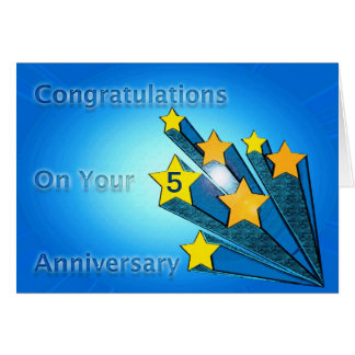 Employee Anniversary Customizable Shooting Stars Greeting Card