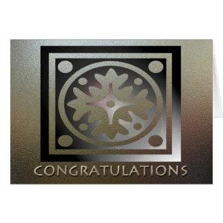 Employee Anniversary Elegant Golden Greeting Cards