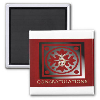 Employee Anniversary Gifts Customizable Red Magnet