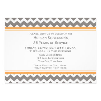 Employee Anniversary Party Invitation Grey Blue