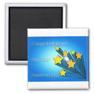 Employee Anniversary Shooting Stars Magnet