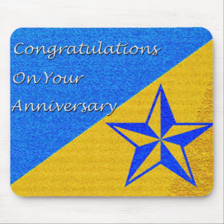 Employee Anniversary Star Mouse Pads