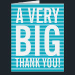"""Employee appreciation business thank you card<br><div class=""""desc"""">Very big oversized employee appreciation Thank You greeting cards. Enormous oversize card for thanking business worker, corporate office employees, coworker, colleagues, boss, retiree, retired friends, family, coach, mom, dad, teacher, nurse, retiring company boss, etc. Huge XL Extra Large design with modern style big letter typography and custom color in the...</div>"""