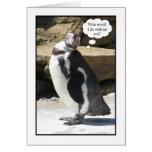 Employee Appreciation Thank You Card - Penguin