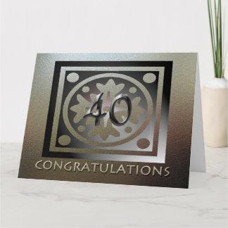 Employee BIG 40th Anniversary Elegant Golden Card