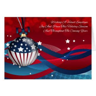 Employee Business Stylish Holiday Season, Stylish Card