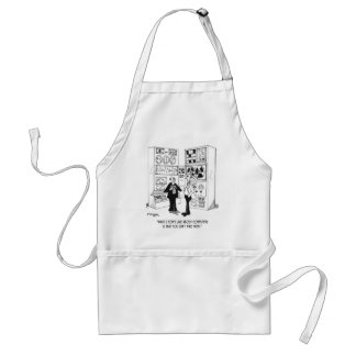 Employee Cartoon 4632 Adult Apron