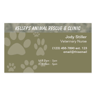 Employee for Animals U-pick Color Business Card