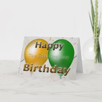 Employee Happy Birthday Card