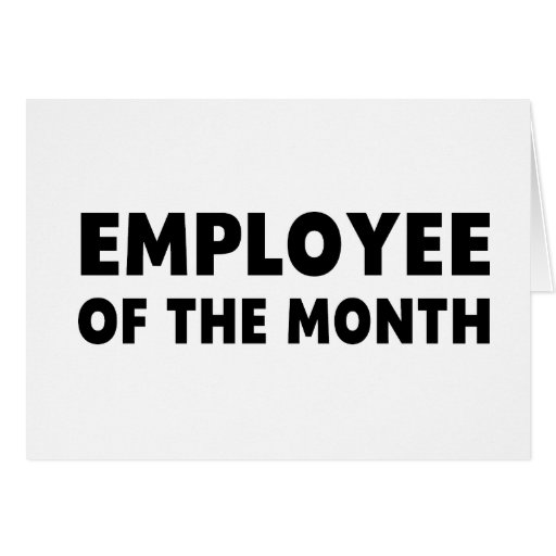 Employee Month Greeting Card
