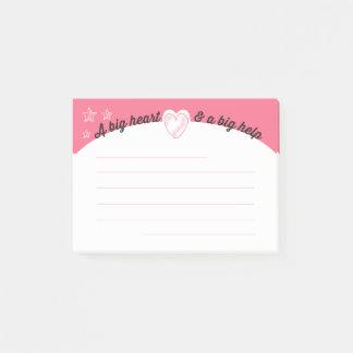 Employee motivation charity helper post-it post-it notes