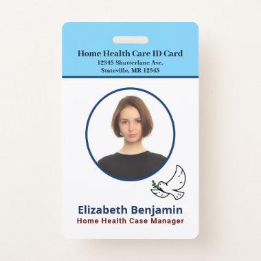 Employee Name Photo Logo Bar Code Custom ID Badge