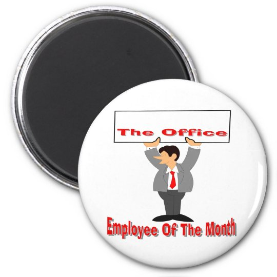 Employee Of The Month 2 Inch Round Magnet