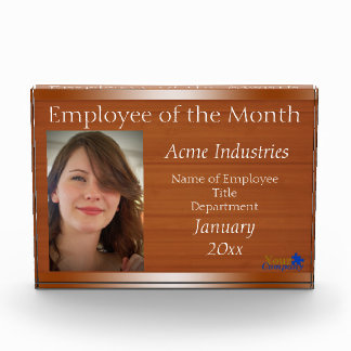 Employee of the Month Acrylic Block Award