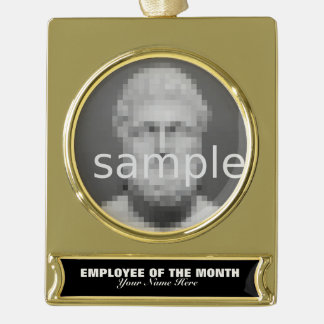 Employee of the month appreciation photo ornament