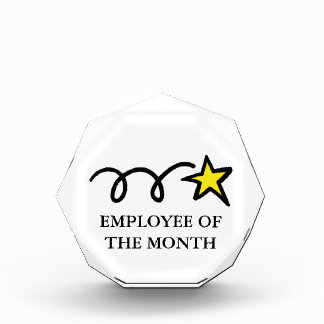 Employee of the month award for appreciation