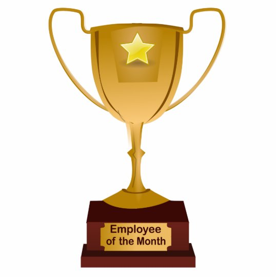 employee of the month award golden trophy statuette zazzle com