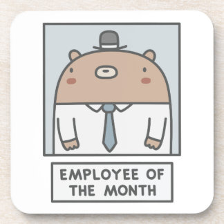 Employee Of The Month Beverage Coaster