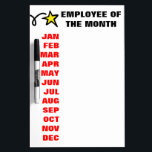 """Employee of the month calendar dry erase board<br><div class=""""desc"""">Employee of the month idea   Calendar dry erase board for business. Motivational office board for employees and co-workers.</div>"""