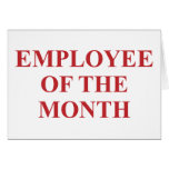 Employee of the Month Cards