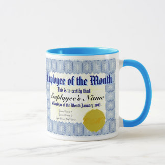 Employee of the Month Certificate Mug