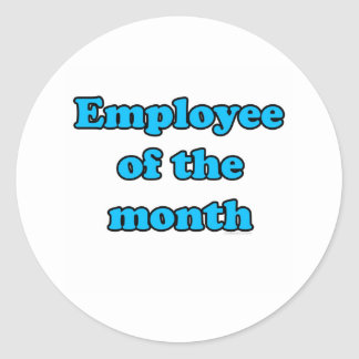 employee of the month classic round sticker