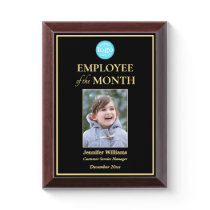 Employee of the Month Company Logo Photo Gold Award Plaque