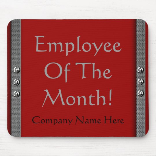 Employee Of The Month! Company Mousepad