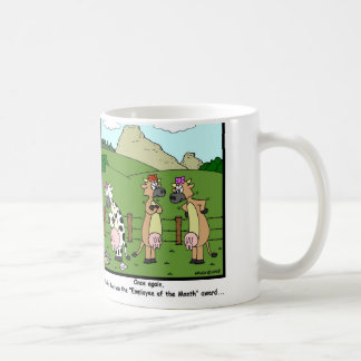 Employee of the Month: Cow Cartoon Coffee Mug