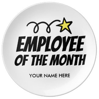 Employee of the Month gift plate