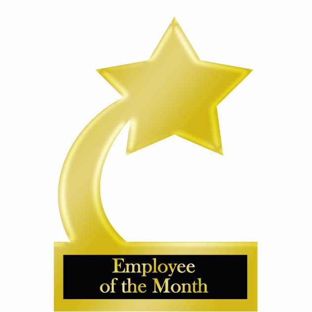 Employee of the Month, Gold Star Award Trophy Cutout | Zazzle