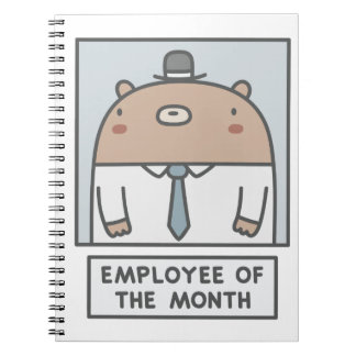 Employee Of The Month Spiral Notebooks