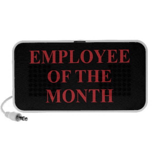 Employee of the Month Notebook Speakers