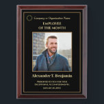 """Employee Of The Month Photo Logo Gold Personalize  Award Plaque<br><div class=""""desc"""">Employee Of The Month Photo Logo Gold Personalize Awards Plague for your employees at your company. Replace with your information or words,  logo or symbol and photograph.  Great to use for those Award ceremonies or just to thank someone for their service.</div>"""