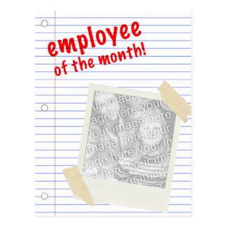 employee of the month! polaroid postcard