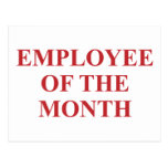 Employee of the Month Postcard