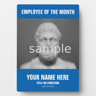 Employee of the month recognition photo plaque
