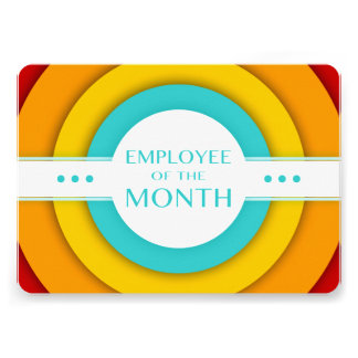 employee of the month (retro) card