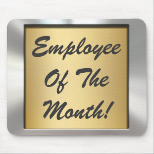 employee month mouse pads zazzle