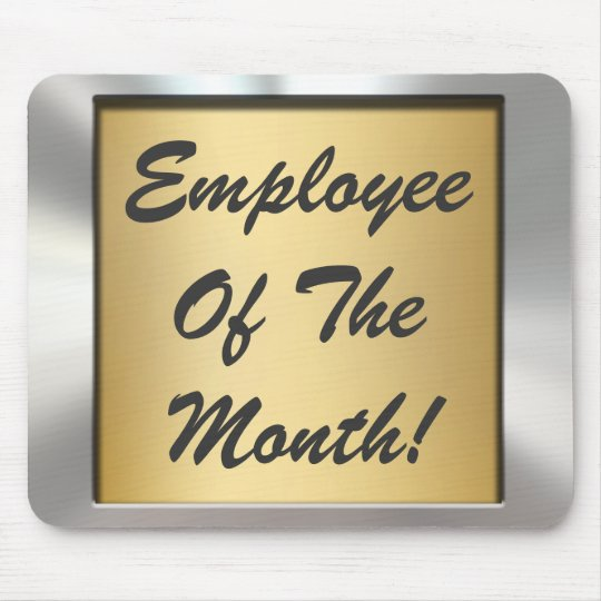 Employee Of The Month! Silver Frame Mousepad | Zazzle.com