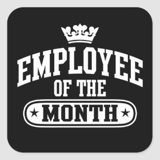 Employee Of The Month Square Sticker