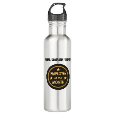 Professional Business Employee of the Month with custom text Stainless Steel Water Bottle