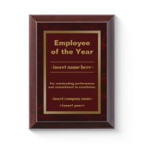 Employee  of the Year Award Plaque