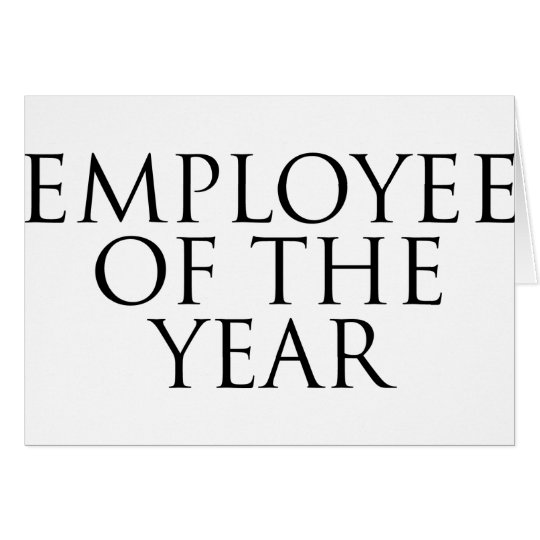 Employee Of The Year Card
