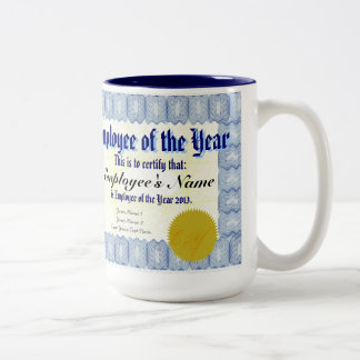 Employee of the Year Certificate Mug