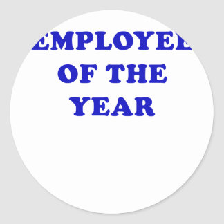 Employee of the Year Classic Round Sticker